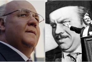 "Russell Crowe as Roger Ailes in ""The Loudest Room"" and ""Citizen Kane"""