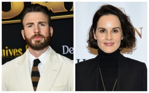 Chris Evans and Michelle Dockery