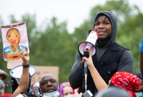 Star Wars actor John Boyega speaks in Hyde Park, London in support of the Black Lives Matter movement after the death of George Floyd in Minneapolis at the hands of a white police officer.Black Lives Matter demonstration in Hyde Park, London, UK - 03 Jun 2020