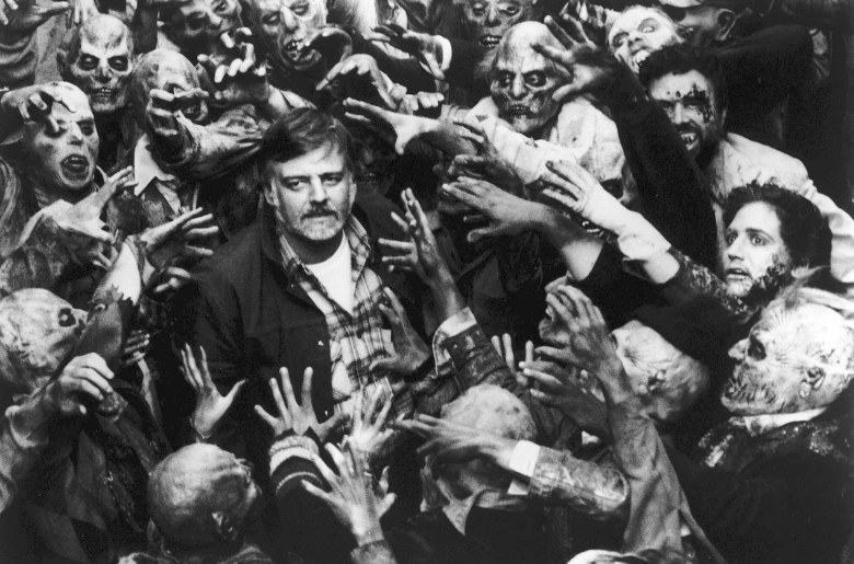 Editorial use only. No book cover usage.Mandatory Credit: Photo by Laurel/Kobal/Shutterstock (5854511a)George A. RomeroGeorge A. Romero - 1985Laurel EntertainmentOn/Off SetDay Of The Dead