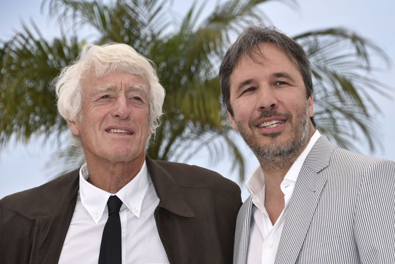 Canadian Director Denis Villeneuve (l) and British Director of Photography Roger Deakins (r) Pose During the Photocall For 'Sicario' at the 68th Annual Cannes Film Festival in Cannes France 19 May 2015 the Movie is Presented in the Official Competition of the Festival Which Runs From 13 to 24 May France CannesFrance Cannes Film Festival 2015 - May 2015