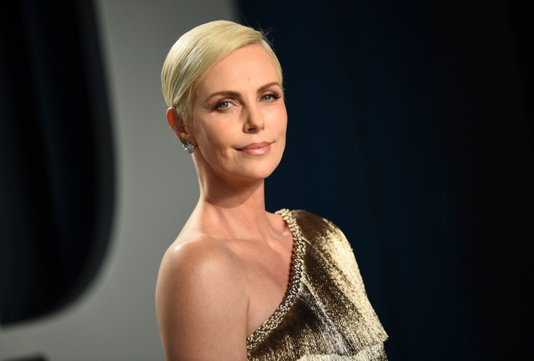 Charlize Theron arrives at the Vanity Fair Oscar Party on Sunday, Feb. 9, 2020, in Beverly Hills, Calif. (Photo by Evan Agostini/Invision/AP)