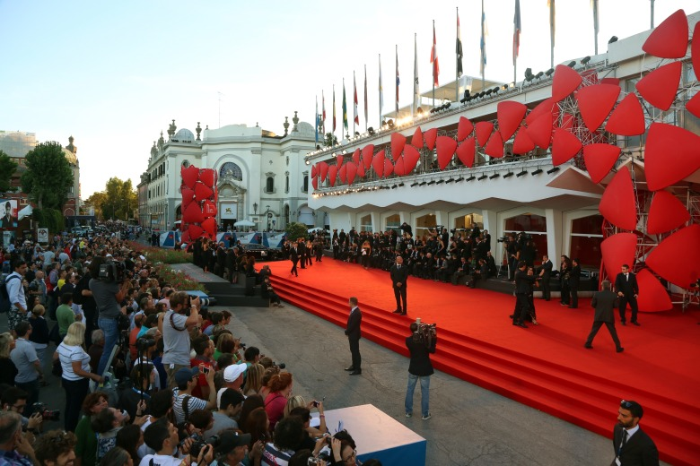 Atmosphere in front of the Palazzo del Cinema during the 71st Venice Film Festival in Venice, Italy, 28 August 2014. Photo by: Hubert Boesl/picture-alliance/dpa/AP Images