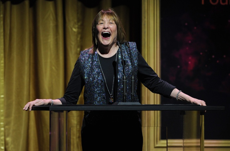 Geri Jewell presents an award at the 36th College Television Awards, presented by the Television Academy Foundation at the Skirball Cultural Center in Los Angeles on Thursday, April 23, 2015. (Photo by Vince Bucci/Invision for the Television Academy/AP Images)