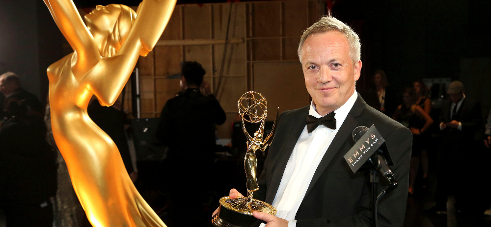 Gary Dollner with his 2019 Emmy