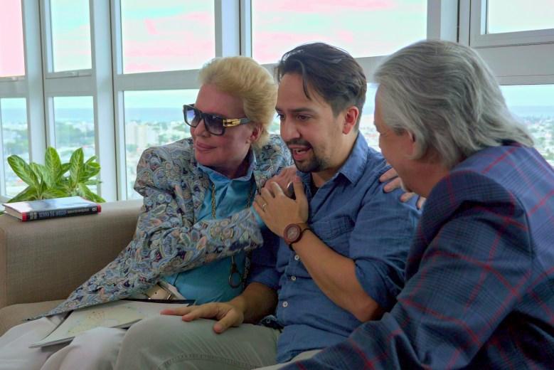 """Walter Mercado and Lin Manuel Miranda in """"Mucho Mucho Amor"""""""