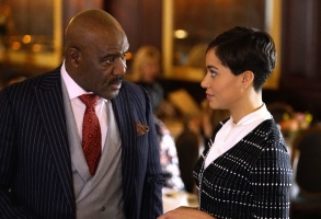 "Delroy Lindo and Cush Jumbo in ""The Good Fight"""