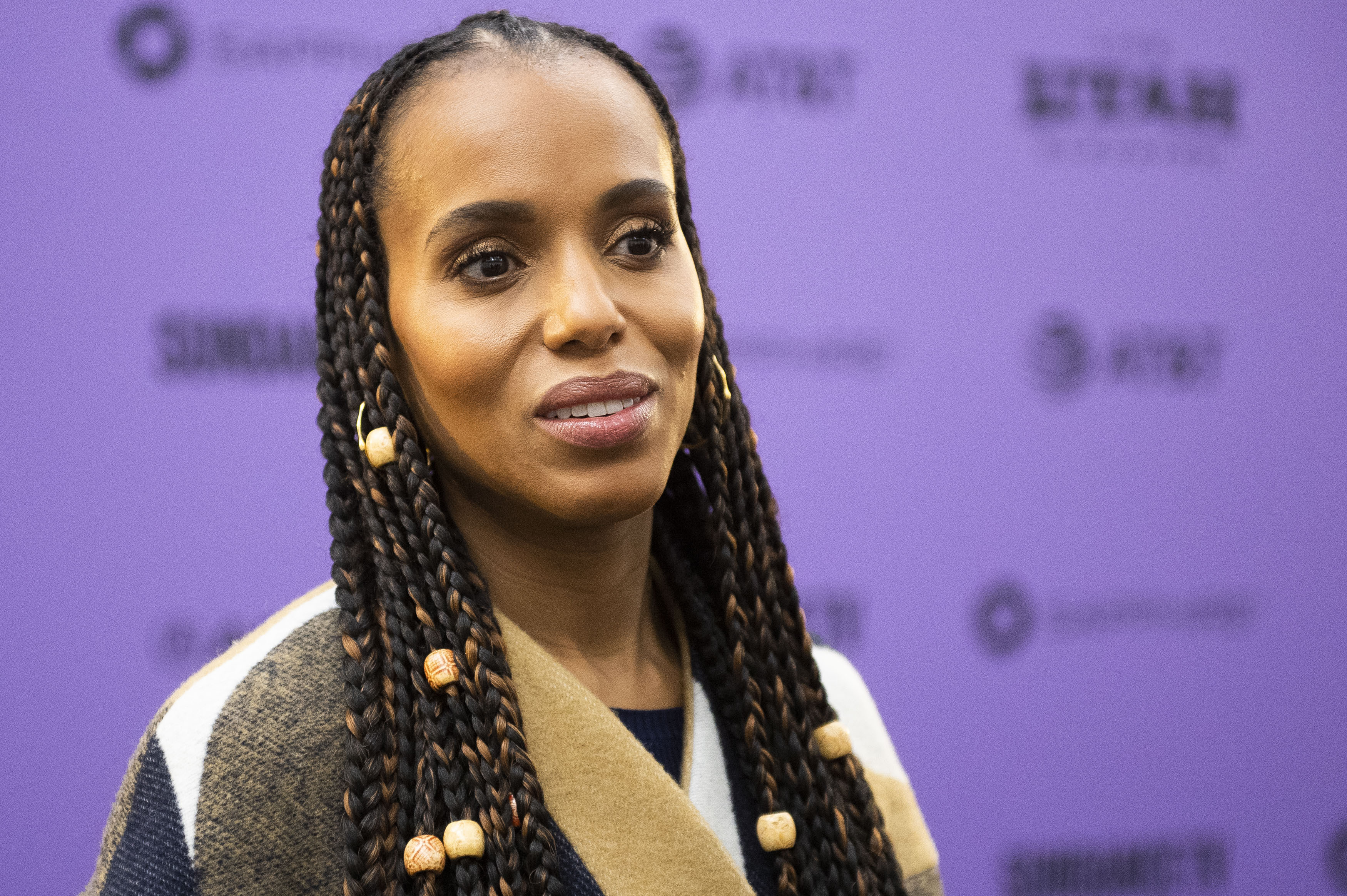 """Producer Kerry Washington attends the premiere of """"The Fight"""" at the MARC Theater during the 2020 Sundance Film Festival on Friday, Jan. 24, 2020, in Park City, Utah. (Photo by Arthur Mola/Invision/AP)"""