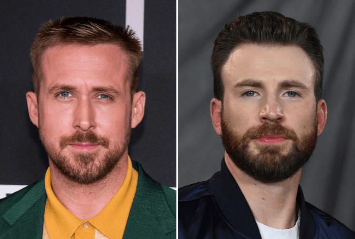 Ryan Gosling and Chris Evans