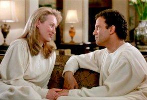 "Albert Brooks and Meryl Streep in ""Defending Your Life"""