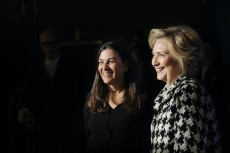 Hillary Clinton and Nanette Burstein