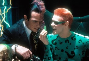 Editorial use only. No book cover usage.Mandatory Credit: Photo by Moviestore/Shutterstock (1552417a)Batman Forever, Tommy Lee Jones, Jim CarreyFilm and Television