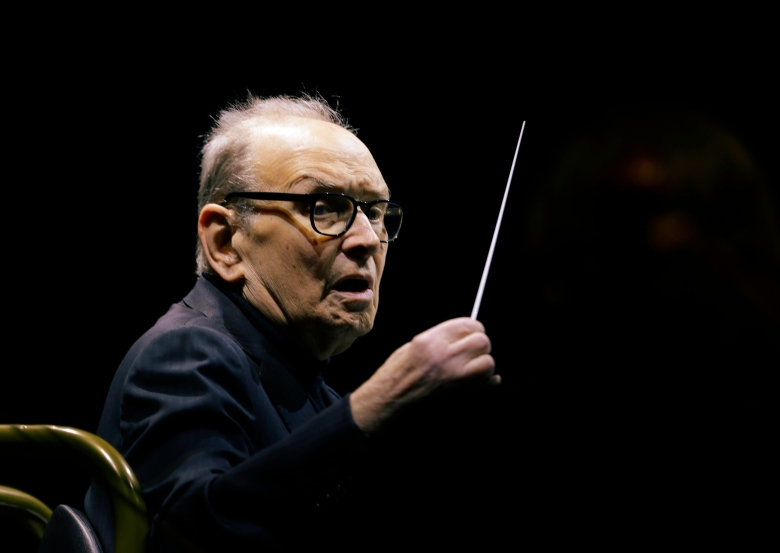 """Italian composer Ennio Morricone directs an ensemble during a concert of his """"60 Year Of Music World Tour"""" in Milan, ItalyMorricone, Milan, Italy - 06 Mar 2018"""