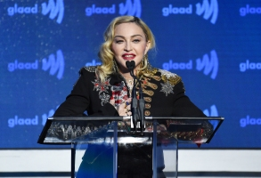 Honoree Madonna accepts the advocate for change award at the 30th annual GLAAD Media Awards at the New York Hilton Midtown on Saturday, May 4, 2019, in New York. (Photo by Evan Agostini/Invision/AP)