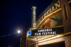 FILE - In this Jan. 28, 2020 file photo, the marquee of the Egyptian Theatre promotes the 2020 Sundance Film Festival in Park City, Utah. Festival organizers said selections from next year's edition will also play in at least 20 other cities, radically enlarging Sundance's scope and potentially connecting it more deeply with local communities. (Photo by Arthur Mola/Invision/AP, File)