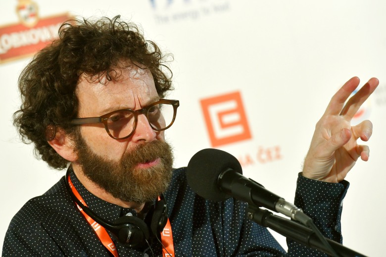 Awarded U.S. scriptwriter Charlie Kaufman attends a press conference at the 51st Karlovy Vary International Film Festival in Karlovy Vary, Czech Republic, July 8, 2016. Photo/Slavomir Kubes (CTK via AP Images)