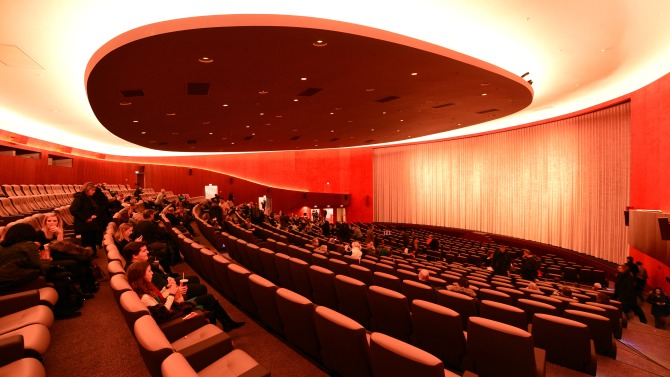 Interior view of the main hall of the Zoo Palast theatre inBerlin, Germany, 25 January 2014. After extensive renovation works and furnishing with the latest cinema technology, the Zoo Palast has become a venue of this year's Berlin International Film Festival again. Three galas of the Berlinale Specials are planned to be held at the traditional movie theater. Photo by: Jens Kalaene/picture-alliance/dpa/AP Images