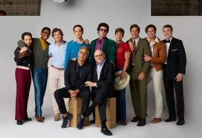 THE BOYS IN THE BAND (2020)Back Row:Robin De Jesus, Michael Benjamin Washington, Matt Bomer, Jim Parsons, Zachary Quinto, Charlie Carver, Tuc Watkins, Andrew Rannells, Brian HutchisonFront: Joe Mantello, Mart CrowleyCr. Brian Bowen Smith/NETFLIX ©2020