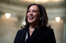 UNITED STATES - JUNE 24: Sen. Kamala Harris, D-Calif., is seen after an interview in Russell Building on Wednesday, June 24, 2020. (Photo By Tom Williams/CQ Roll Call)