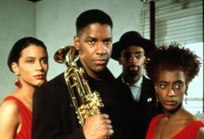 MO' BETTER BLUES, Cynda Williams, Denzel Washington, Spike Lee, Joie Lee, 1990
