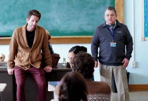 "A.P. BIO -- ""Disgraced"" Episode 302 -- Pictured: (l-r) Glenn Howerton as Jack, Patton Oswalt as Principal Durbin -- (Photo by: Chris Haston/Peacock)"