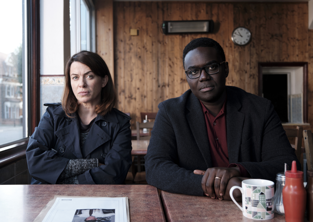 """Eve Myles and Babou Ceesay in """"We Hunt Together"""" Showtime"""