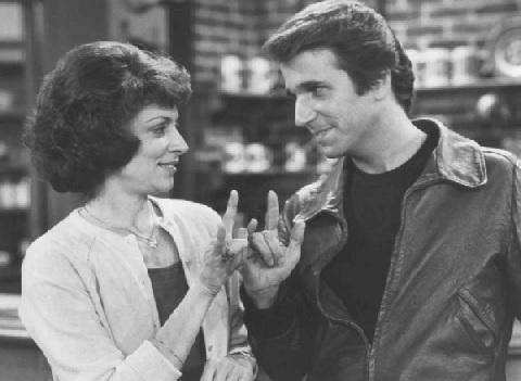 Linda Bove and Henry Winkler