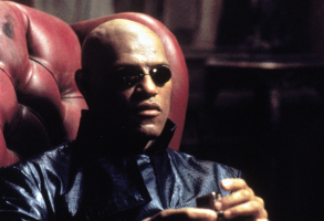 "Laurence Fishburne in ""The Matrix"""