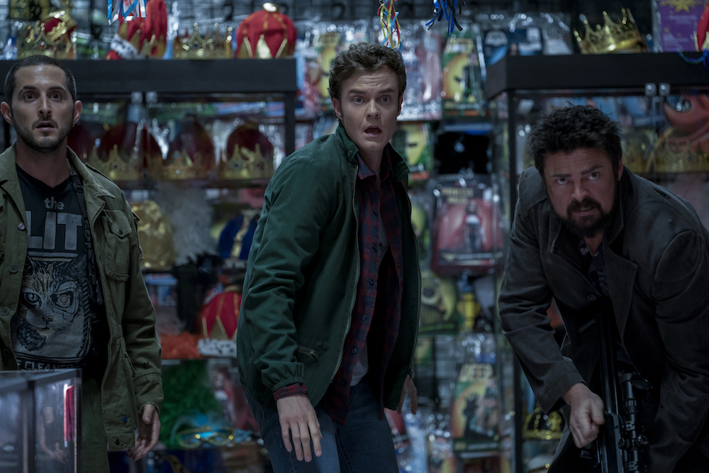 "Laz Alonso, Jack Quaid, and Karl Urban in ""The Boys"" Season 2 Amazon Prime Video"