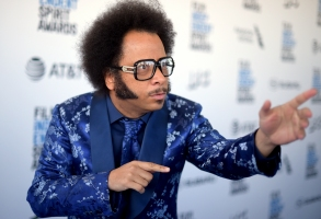 Boots Riley arrives at the 34th Film Independent Spirit Awards on Saturday, Feb. 23, 2019, in Santa Monica, Calif. (Photo by Richard Shotwell/Invision/AP)
