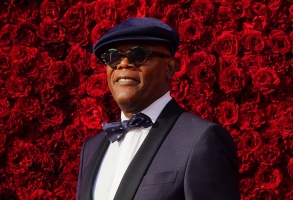 Samuel L. Jackson poses for a photo on the red carpet at the grand opening of Tyler Perry Studios on Saturday, Oct. 5, 2019, in Atlanta. (Photo by Elijah Nouvelage/Invision/AP)