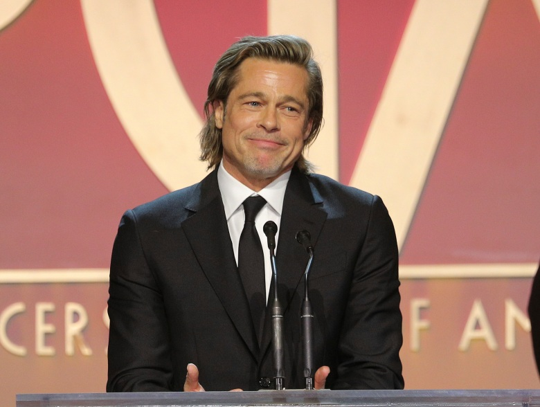 IMAGE DISTRIBUTED FOR PRODUCERS GUILD OF AMERICA - Brad Pitt accepts the David O. Selznick award at the 31st Annual Producers Guild Awards at the Hollywood Palladium on Saturday, January 18, 2020, in Los Angeles. (Photo by John Salangsang/Invision for the Producers Guild of America/AP Images)