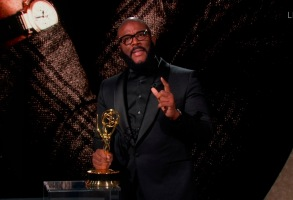 Tyler Perry accepts the Governors Award during the 72nd Emmy Awards telecast on Sunday, Sept. 20, 2020 at 8:00 PM EDT/5:00 PM PDT on ABC. (Invision for the Television Academy/AP)