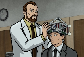 "ARCHER -- ""The Orpheus Gambit"" -- Season 11, Episode 1 (Airs September 16) Pictured: Algernop Krieger (voice of Lucky Yates), Sterling Archer (voice of H. Jon Benjamin). CR: FXX"