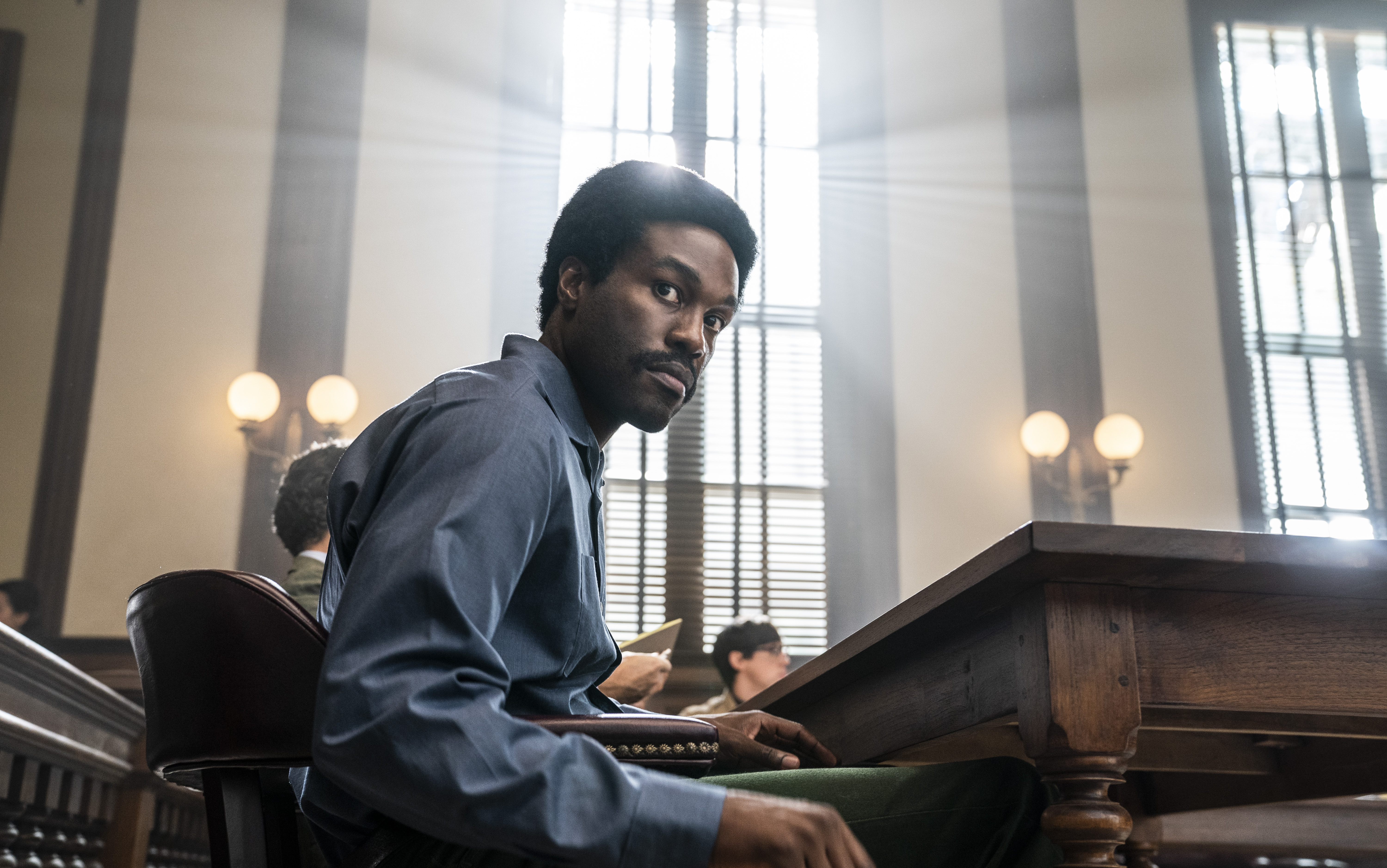 The Trial of the Chicago 7. Yahya Abdul-Mateen II as Bobby Seale in The Trial of the Chicago 7. Cr. Niko Tavernise/NETFLIX © 2020