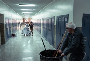 I'm Thinking of Ending Things. Guy Boyd as Janitor in I'm Thinking of Ending Things. Cr. Mary Cybulski/NETFLIX © 2020