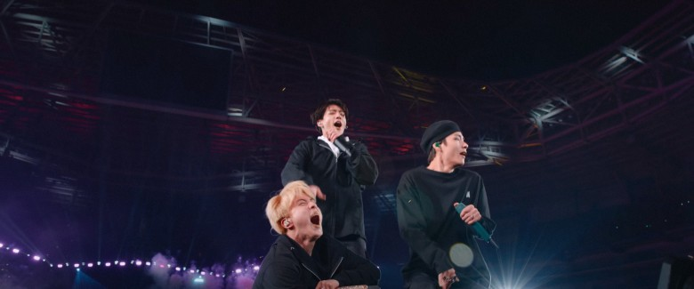 BREAK THE SILENCE: THE MOVIE, South Korean pop band BTS on their 2018 - 2019 Love Yourself world tour, 2020. © Trafalgar Releasing / Courtesy Everett Collection