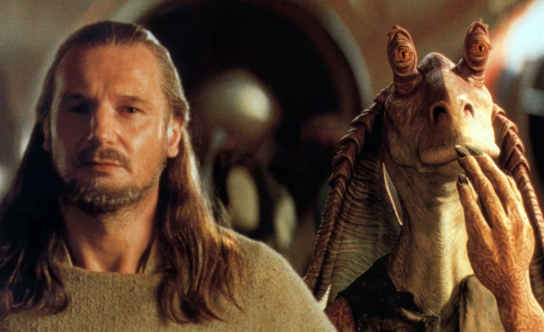 STAR WARS: EPISODE I - THE PHANTOM MENACE, Liam Neeson, Jar Jar Binks, 1999