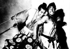 "Toshiro Mifune and Masayuki Mori in ""Rashomon"""