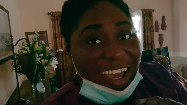 SOCIAL DISTANCE (L to R) DANIELLE BROOKS as IMANI in episode 103 of SOCIAL DISTANCE Cr. COURTESY OF NETFLIX © 2020