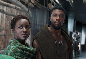 """Lupita Nyong'o and Chadwick Boseman in """"Black Panther"""""""