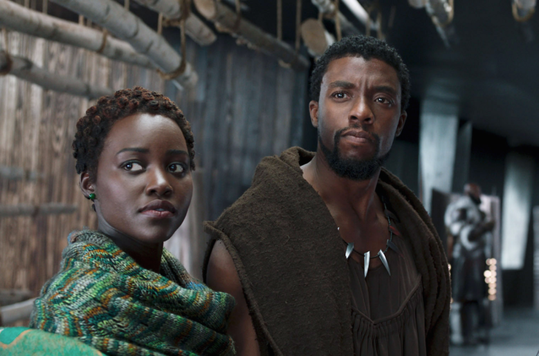 "Lupita Nyong'o and Chadwick Boseman in ""Black Panther"""