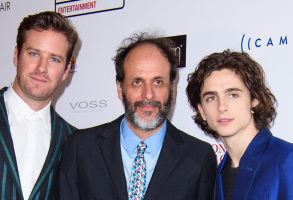 Armie Hammer, Luca Guadagnino, and Timothee Chalamet