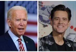 Joe Biden and Jim Carrey