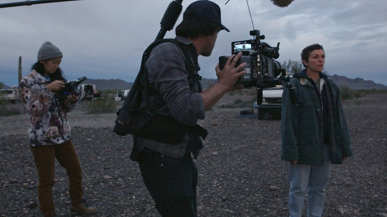 """Nomadland"" Cinematographer Joshua James Richards (with Director Chloé Zhao and Actress Frances McDormand)"