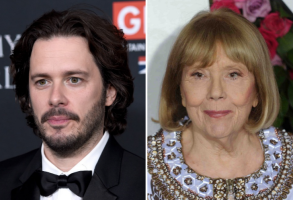 Edgar Wright and Diana Rigg