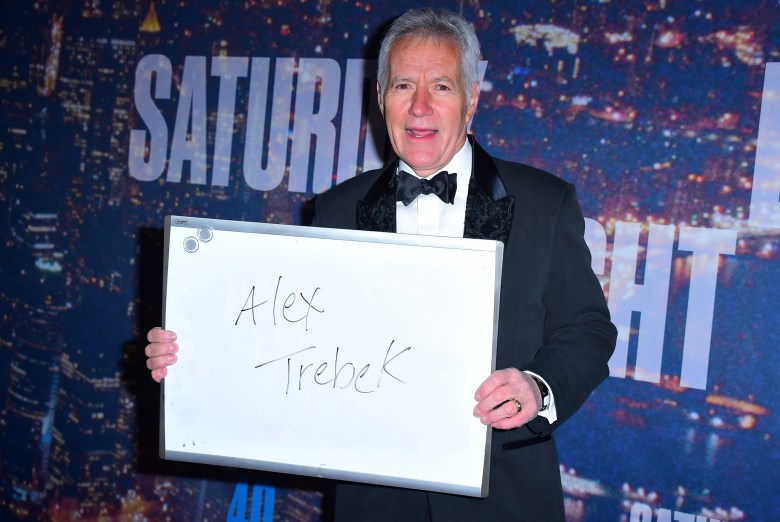 Alex Trebek at arrivals for Saturday Night Live SNL 40th Anniversary - Part 2, Rockefeller Plaza, New York, NY February 15, 2015. Photo By: Gregorio T. Binuya/Everett Collection