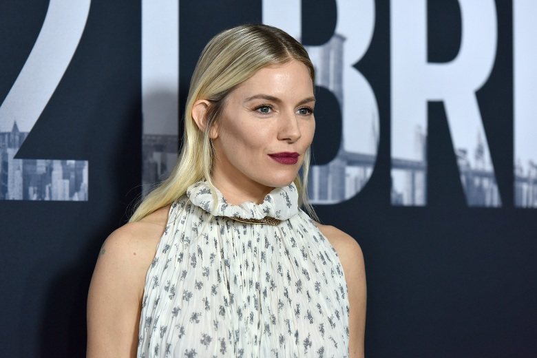 "Actress Sienna Miller attends ""21 Bridges"" World Premiere at the AMC Lincoln Square theatre in New York, NY, November 19, 2019. (Photo by Anthony Behar/Sipa USA)(Sipa via AP Images)"