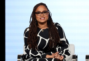 """FILE - In this Thursday, Jan. 16, 2020, file photo, Ava DuVernay speaks at the OWN: Oprah Winfrey Network's """"Cherish the Day"""" series panel during the Discovery Network TCA 2020 Winter Press Tour in Pasadena, Calif. John Legend, Gabrielle Union and Ava DuVernay are some of the many black cultural leaders who have signed a letter to fight against racism, promote equal pay and ask industries to disassociate from police. The letter was released Friday, June 19, 2020 by a new organization called the Black Artists for Freedom, which describes itself as a collective of black workers in the culture industries. (Photo by Willy Sanjuan/Invision/AP)"""