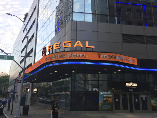 """Photo by: STRF/STAR MAX/IPx 2020 10/4/20 AMC and Cinemark are under pressure after rival movie theater Cineworld announced the closure of its more than 500 U.S. Regal theaters as studios continue to delay major releases such as the new James Bond movie, """"No Time To Die""""."""